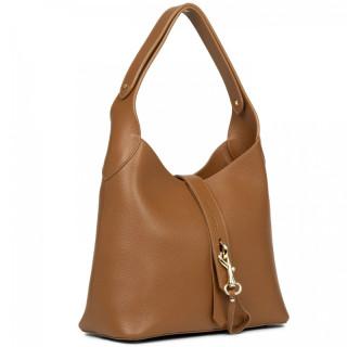 Lancaster Actual Maya Croco Bucket Bag 470-38 Camel In Orange