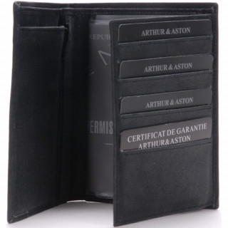 Arthur et Aston Destroy Portefeuille 1438-805 Noir