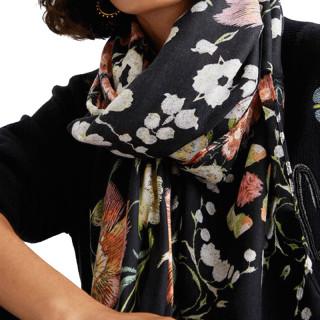 Desigual Liberty Foulard Rectangulaire Fleurs