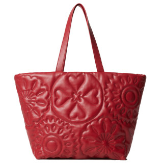 Desigual Big Big Sac Shopping Bag Gravé Rojo face