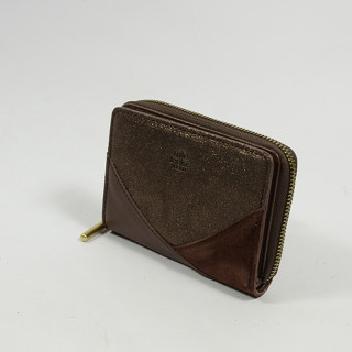 Mila Louise Roma Wallet Leather Back to Café
