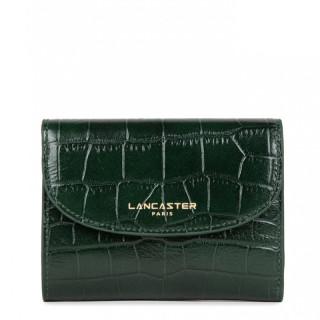 Lancaster Exotic Croco Portefeuille 124-11 Vert Pin