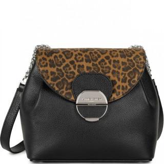 Lancaster Foulonne Pia Crossbody Bag 547-61 Black Leopard