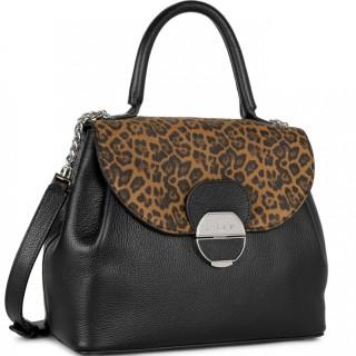 Lancaster Foulonne Pia Crossbody Bag 547-62 Black Leopard