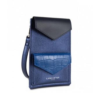 Lancaster Maya Étui Smartphone 117-06 Saphir Bleu-Roi Bleu-Foncé