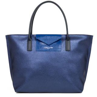 Lancaster Maya Bag Cabas 517-18 Saphir Bleu-Roi Bleu-Foncé