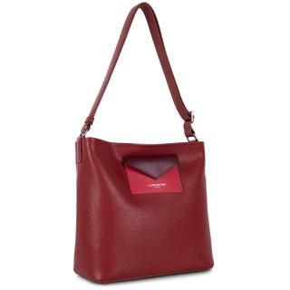 Lancaster Maya Crossbody Bag 517-49 Carmin Framboise Pourpre