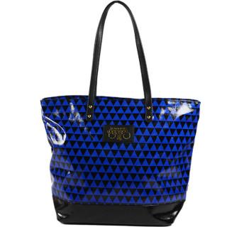 Le Temps Des Cerises Poppy Sac Shopping Bleu Noir