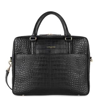 Lancaster Mademoiselle Bag Wears Womens Documents at 1 Bay 573-76 Noir Mat Croco