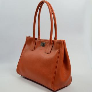 Berthille Elisa Sac Shopping Graine Orange
