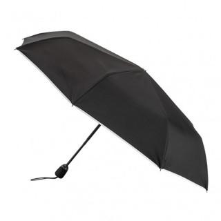 Parapluie Pliant Automatique Piganiol Essentiel Noir Biais Blanc