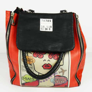 Barbara Rihl Light Thoughts Cabas Rouge pochette