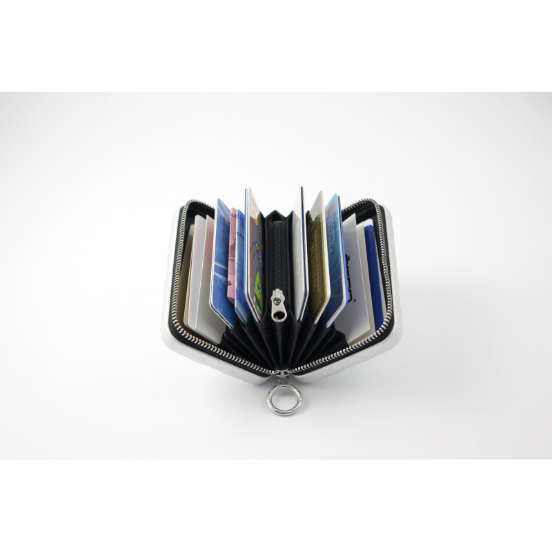 Ogon Quilted Zipper Porte Cartes Noir