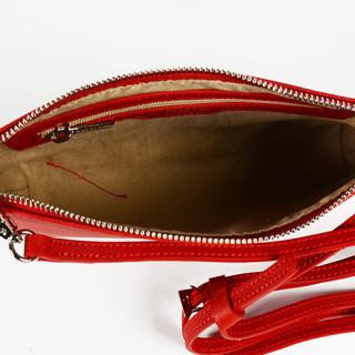Lancaster Adèle Sac Pochette 421-57 Rouge ouvert