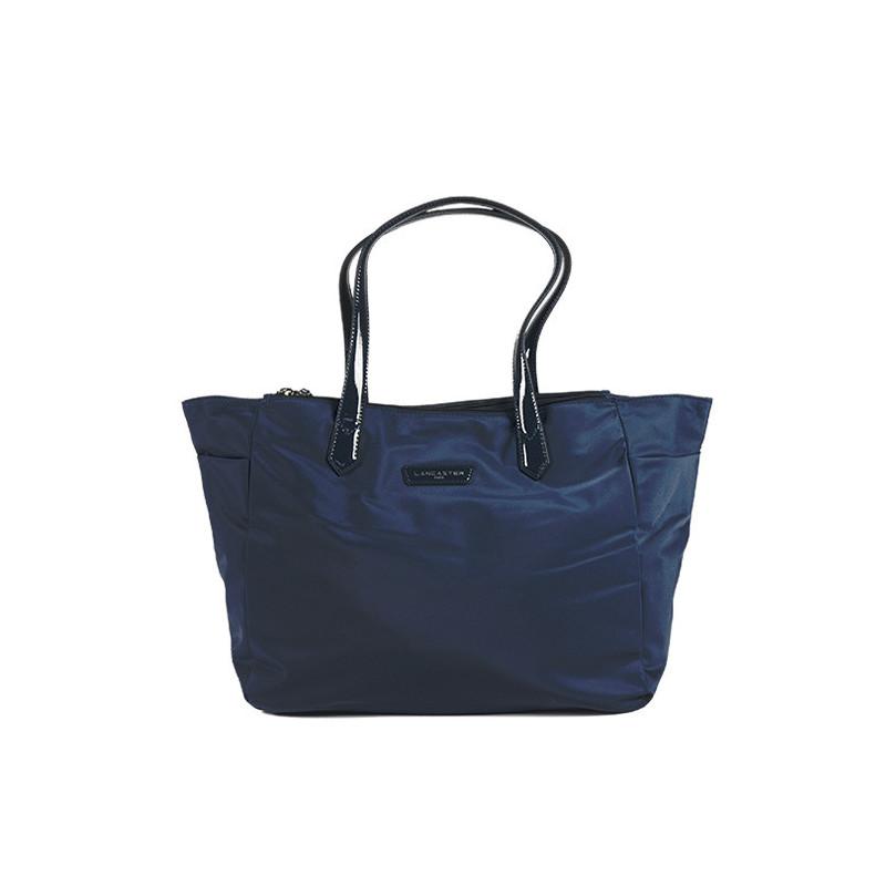 Lancaster Basic Verni Sac Shopping 514-65 Bleu Foncé
