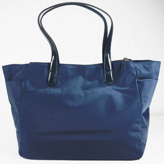 Lancaster Basic Verni Sac Shopping 514-65 Bleu Foncé dos
