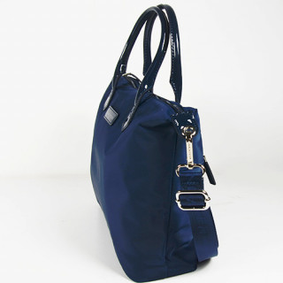 Lancaster Basic Verni Sac Shopping 514-66 Bleu Foncé