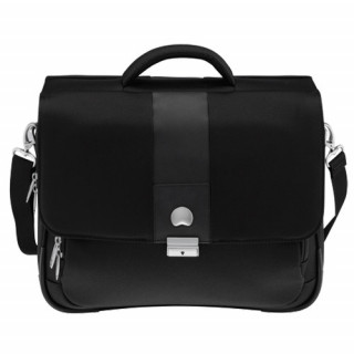 Delsey La Défense cartable 2 soufflets-protection PC Noir