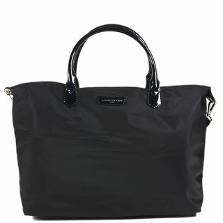 Lancaster Basic Verni Grand Sac Shopping 514-67 Noir