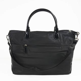 Lancaster Basic Verni Grand Sac Shopping 514-67 Noir dos