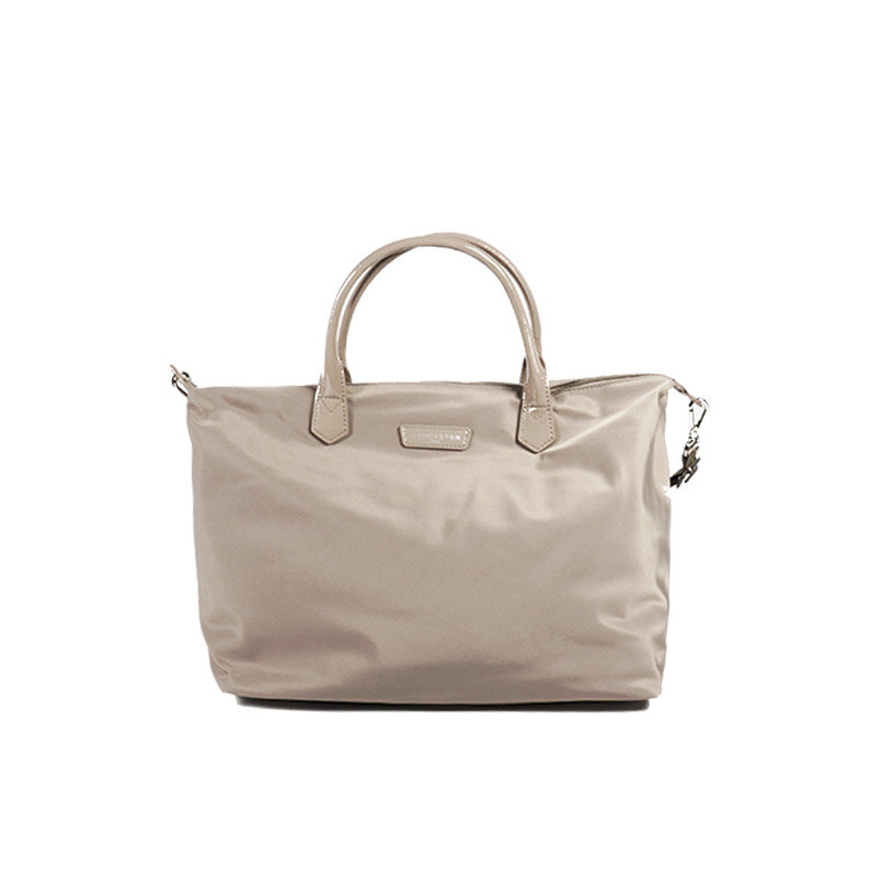 Lancaster Basic Verni Grand Sac Shopping 514-67 Galet