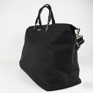 Lancaster Basic Verni Grand Sac Shopping et voyage 514-68 Noir coté