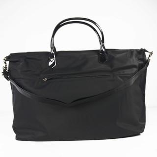 Lancaster Basic Verni Grand Sac Shopping et voyage 514-68 Noir dos