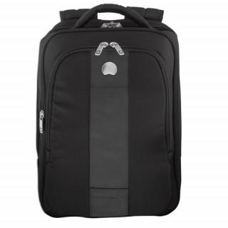 Delsey La Défense Sac à Dos Extensible 2 Cpts- Protection PC Noir