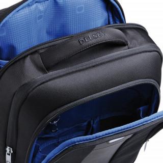 Delsey La Défense Sac à Dos Extensible 2 Cpts- Protection PC Noir poches
