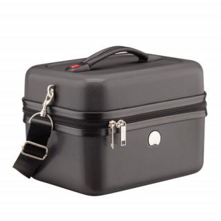 Delsey Chaumont Vanity Beauty-Case Compatible Systeme Troley Noir cote