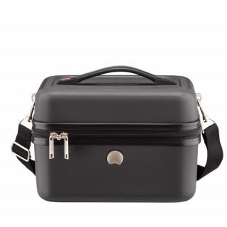 Delsey Chaumont Vanity Beauty-Case Compatible Systeme Troley Noir