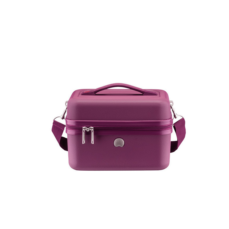 Delsey Chaumont Vanity Beauty-Case Compatible Systeme Troley Violet