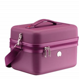 Delsey Chaumont Vanity Beauty-Case Compatible Systeme Troley Violet cote