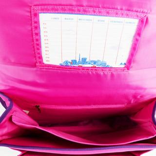 Poids Plume Cartable 35cm Color Pink ouvert