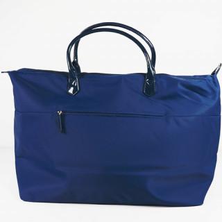 Lancaster Basic Verni Grand Sac Shopping et voyage 514-68 Bleu Fonce dos