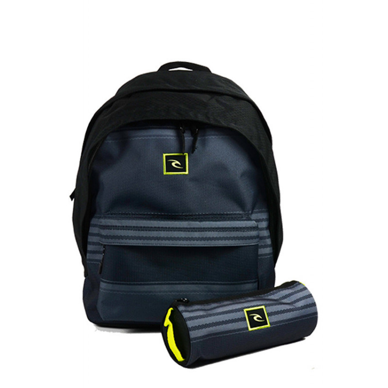 Rip Curl The Game Sac à Dos Double Dome et trousse Grey