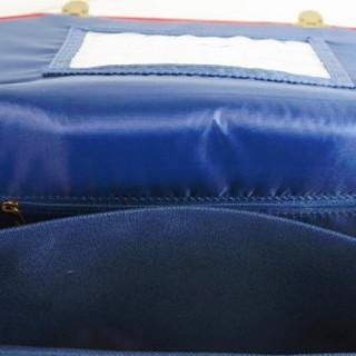 Poids Plume Cartable 41cm Classic Bleu OUVERT