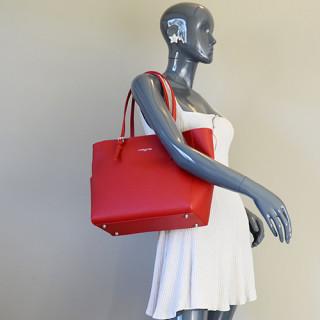 Lancaster Adèle Shopping 421-56 Rouge porté