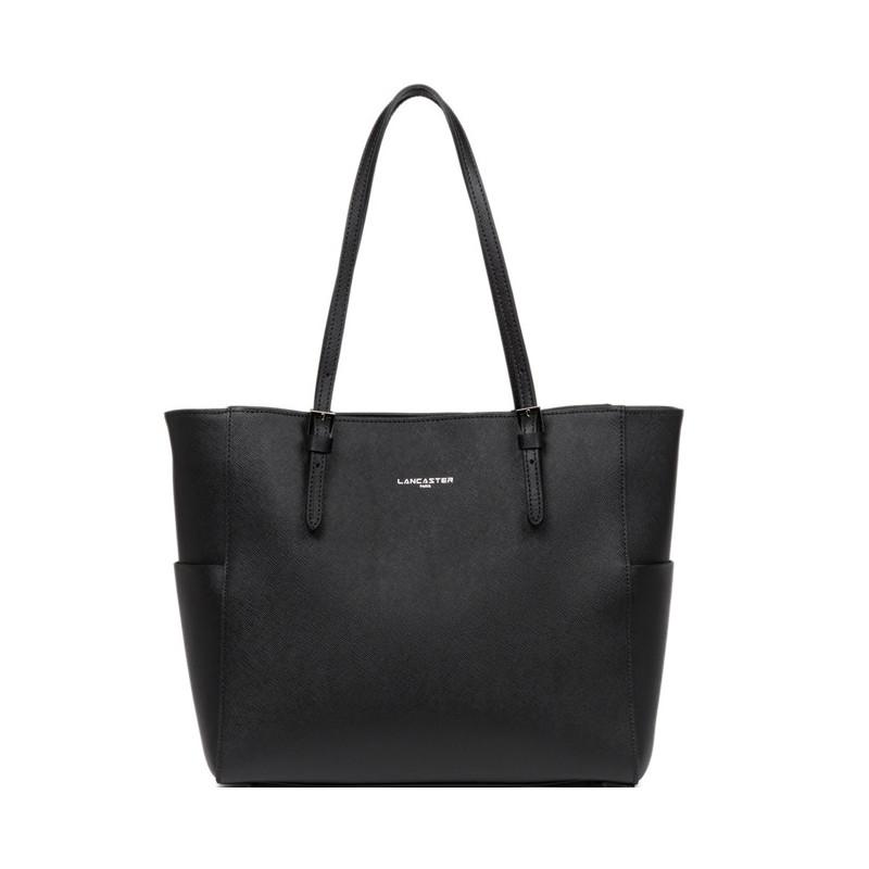 Lancaster Adèle Saffiano Intemporel Shopping 421-56 Noir