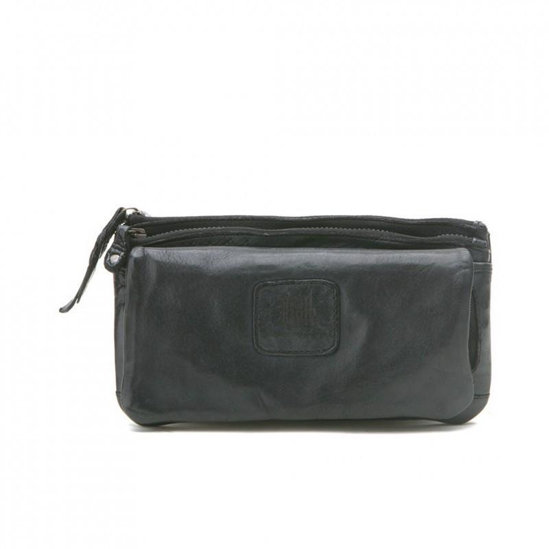 Portefeuille femme en cuir BIBA kansas noir