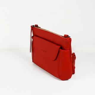 Lancaster Soft Vintage Nova Sac Pochette et  Porté Travers 578-24 Rouge cote