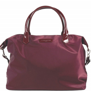 Lancaster Basic Verni Grand Sac Shopping 514-67 Bordeaux