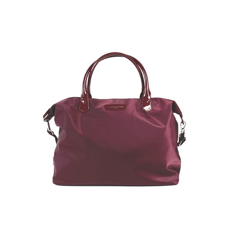 Lancaster Basic Verni Grand Sac Shopping 514-67 Bordeaux