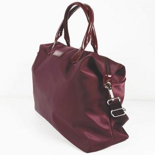 Lancaster Basic Verni Grand Sac Shopping 514-67 Bordeaux cote