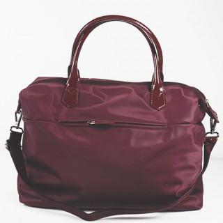 Lancaster Basic Verni Grand Sac Shopping 514-67 Bordeaux dos