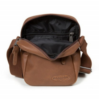 Eastpak The One Leather Cuir Pochette Bandoulière Brownie Leather ouvert