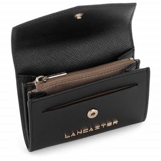 Lancaster Adeline Porte Monnaie 127-01 Noir ouvert