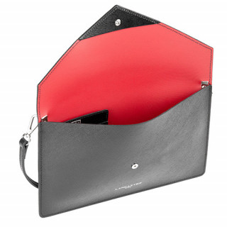 Lancaster Element Sac Pochette 222-03 Noir In Rouge face