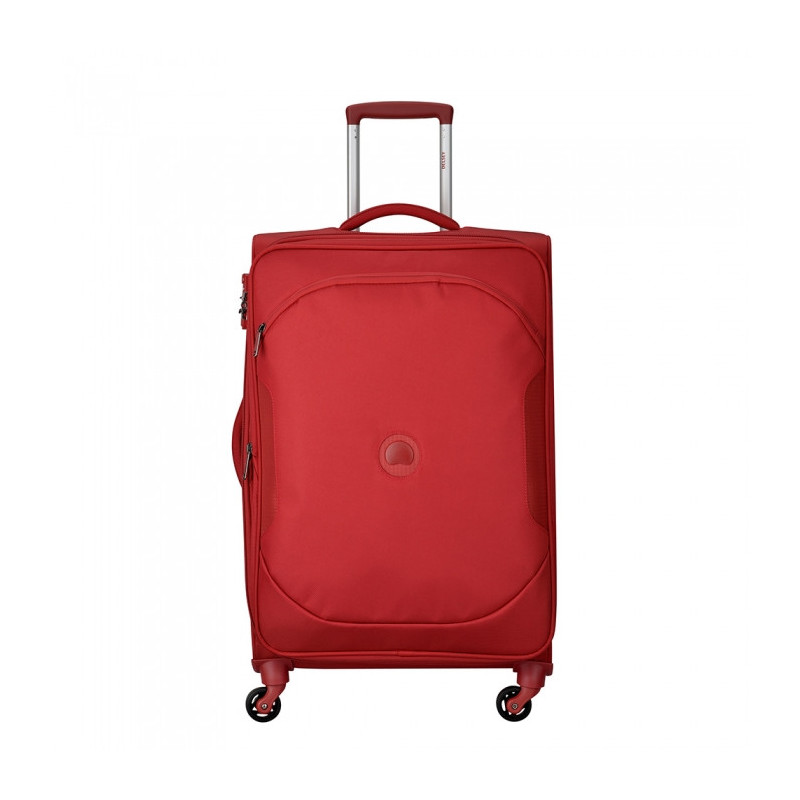 Delsey U-Lite Classic2 Valise Trolley 4 Roues Extensible  68cm Rouge