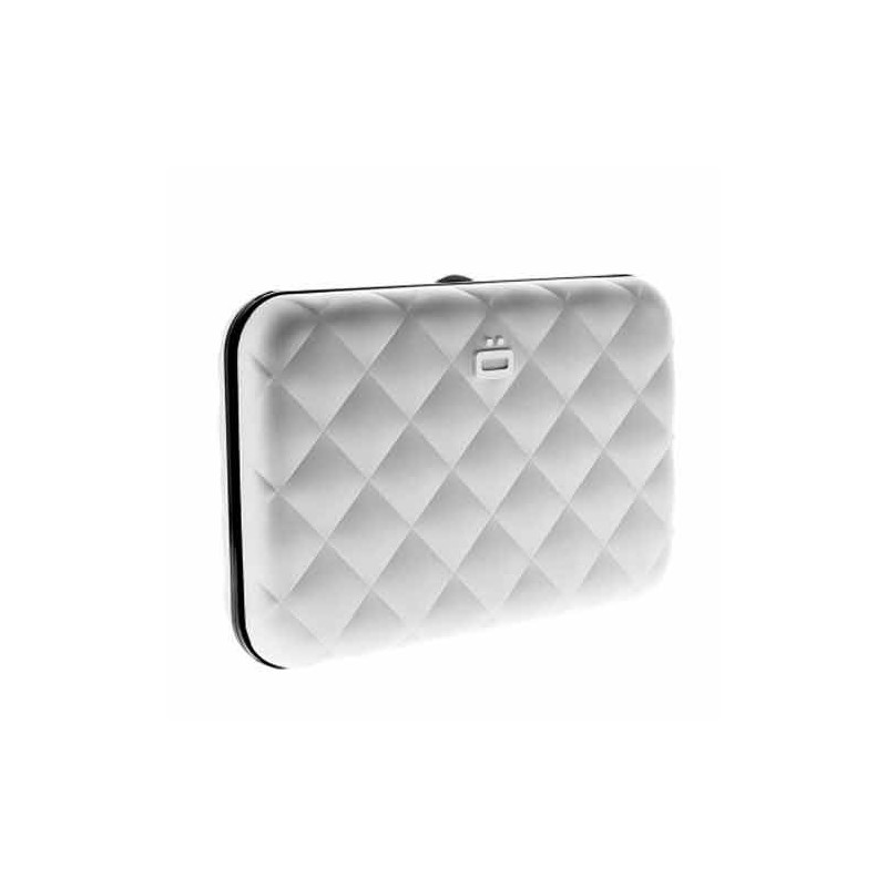 Ogon Quilted Button Porte Cartes Silver